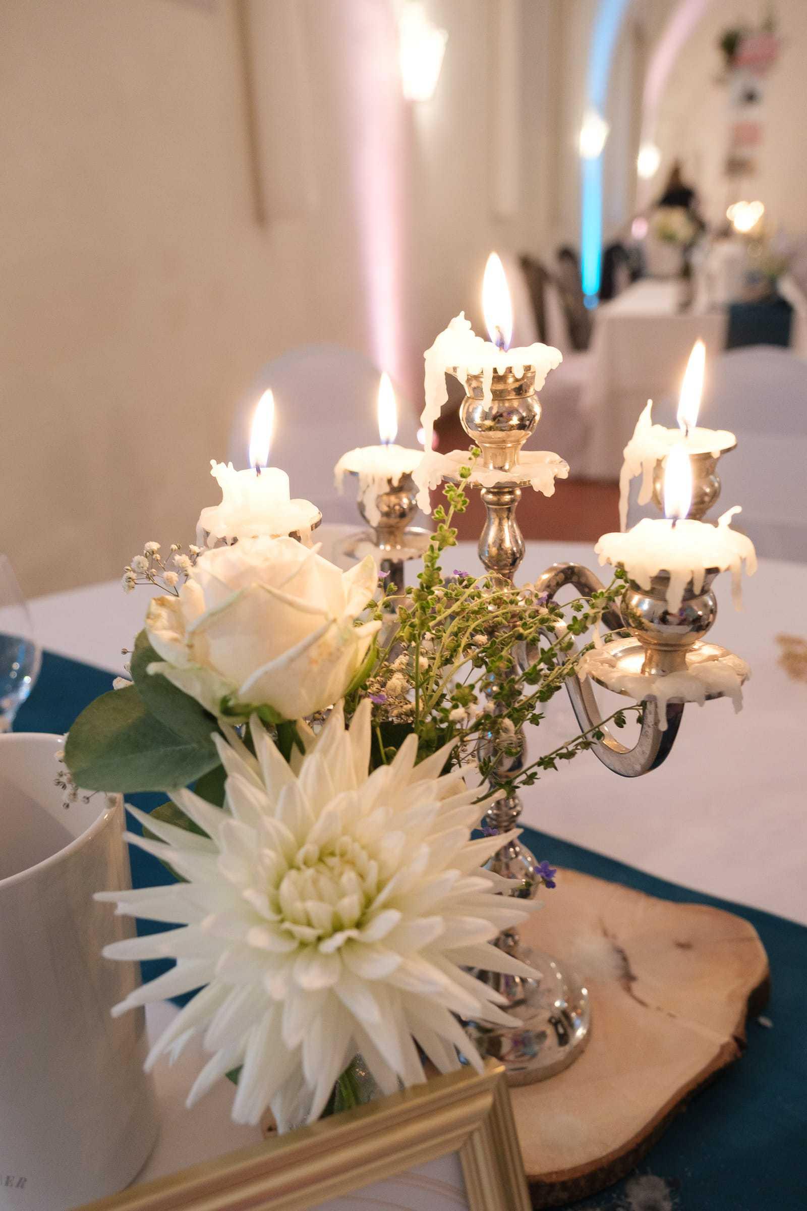 Hochzeit zur späten Stunden Kerzenständer