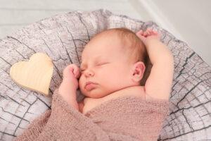Neugeborenenshooting Herz