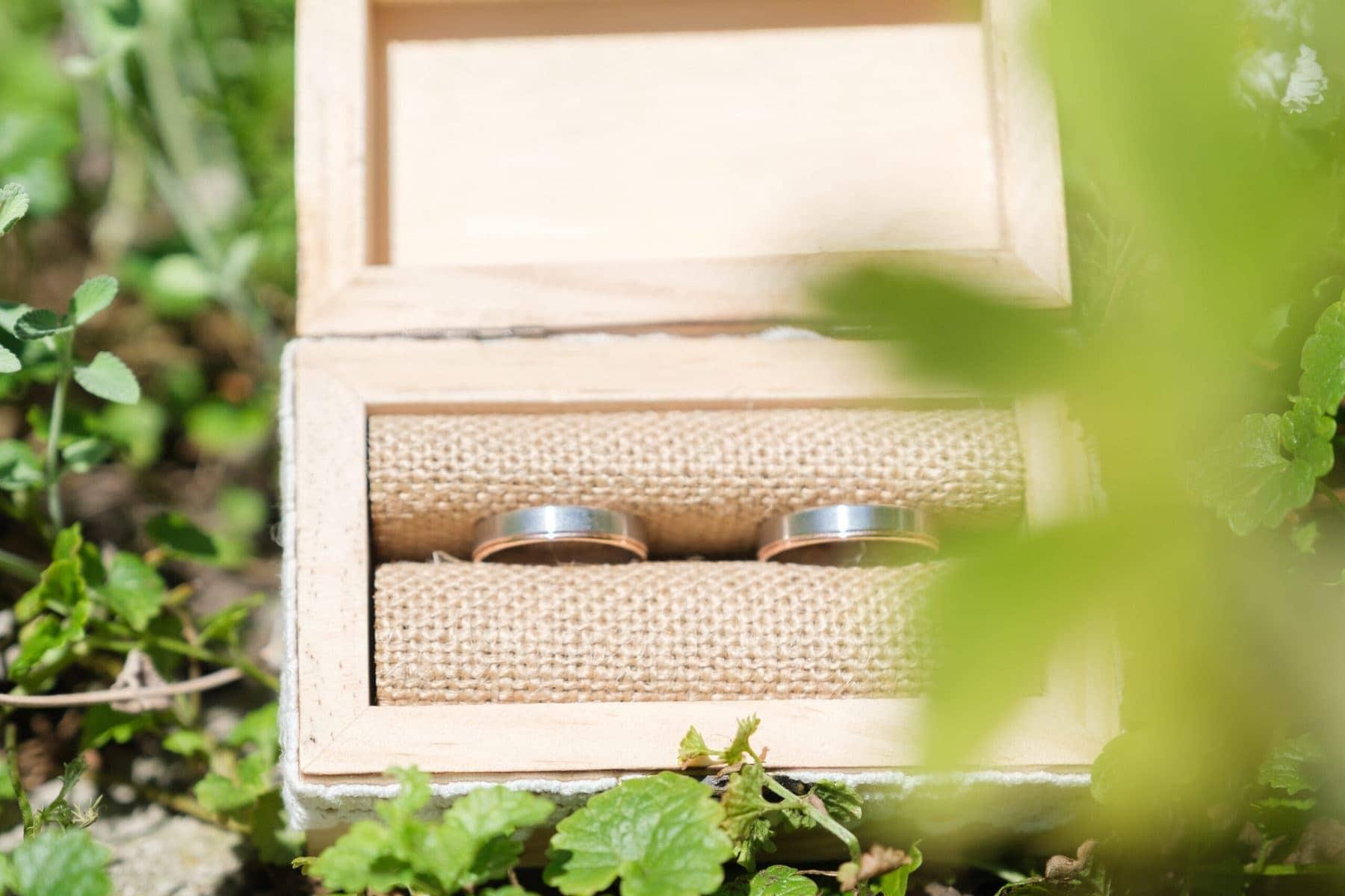 Hochzeit Ringe in Kiste
